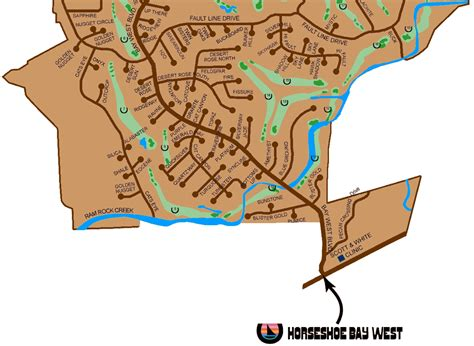 map of horseshoe bay texas horseshoe bay subdivision guide map