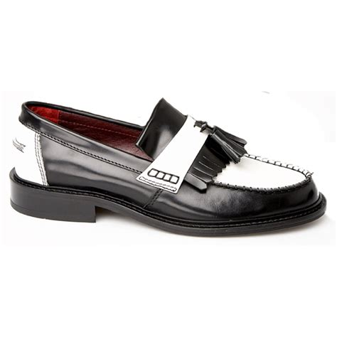 mens black and white loafers delicious junction rude boy black white shoe buy at