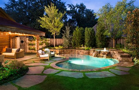 pools in backyards backyard landscaping ideas pools shaping an