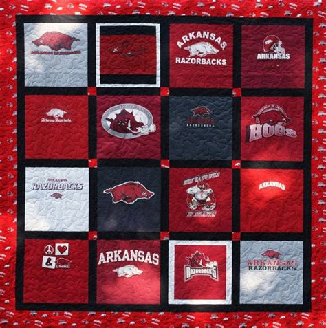 Handmade T Shirt Quilts - custom made t shirt quilt 16 shirts deposit only