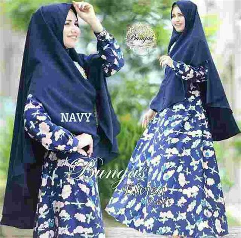 Baju Muslim Modern Busana Muslim Susnita Navy Syari Pesta Mewah model baju gamis syari muslimah modern motif cantik terbaru