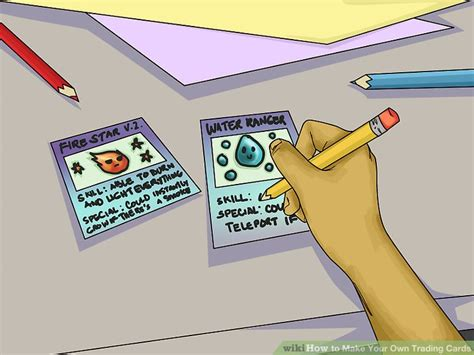 Make Your Own Trading Card Template by 3 Ways To Make Your Own Trading Cards Wikihow