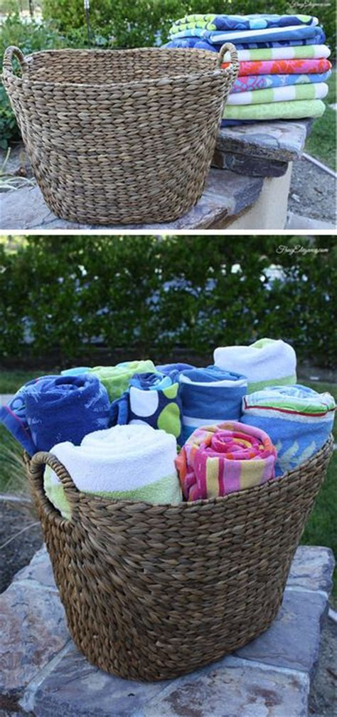 top 25 best towel storage ideas on pool