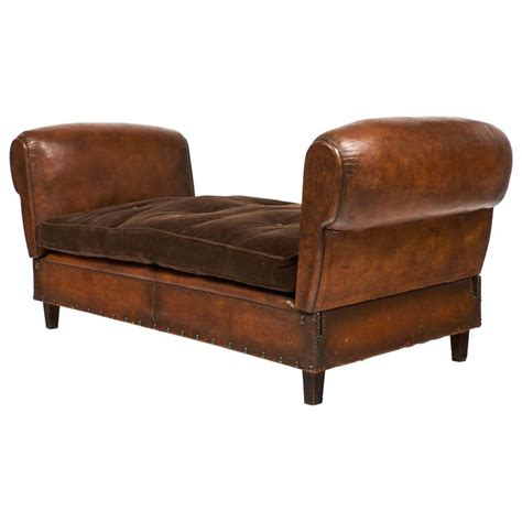 french banquette french leather art deco banquette jean marc fray