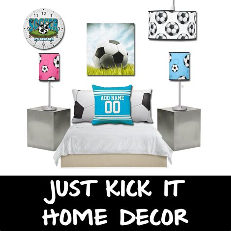 soccer home decor home decor with zazzle just kick it soccer home decor