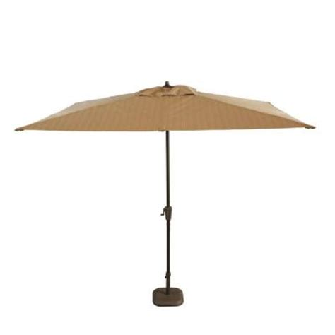 Hton Bay Belleville 8 Ft Patio Umbrella In Tan Home Depot Patio Umbrellas