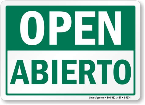 Room Designer Free bilingual open abierto sign hassle free shipping sku s
