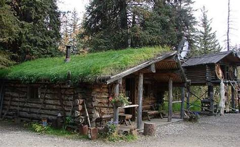 log and sod roof located in alaska these sod roof houses are eco friendly