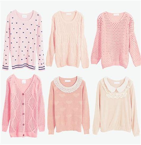 Pink Two Color Sweater Kk406 gasaii shop yumart pink sweaters enter gasaii quot for