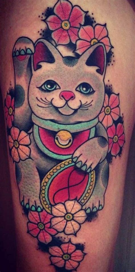 maneki neko tattoo maneki neko asian themed tattoos