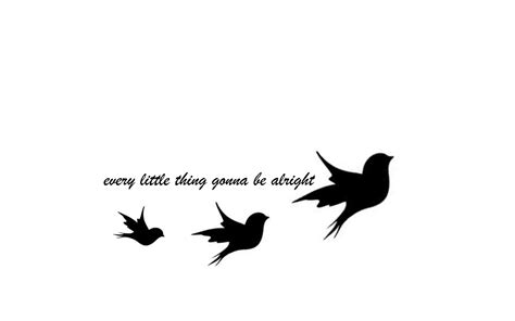 Tattoo Bob Marley Three Little Birds Tats Pinterest 3 Birds Designs