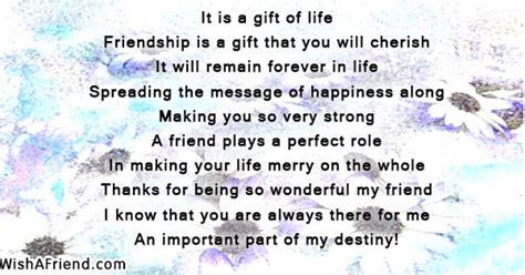 gift  life true friends poem