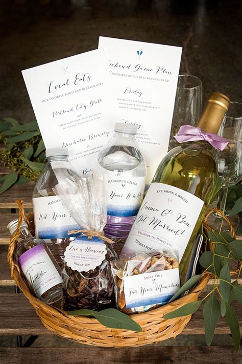 Wedding Baskets by Color Wash Wedding Welcome Basket Wedding Ideas From