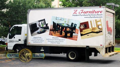 furniture truck wraps  impact capital wraps