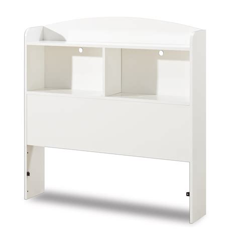 white bookcase headboard sears
