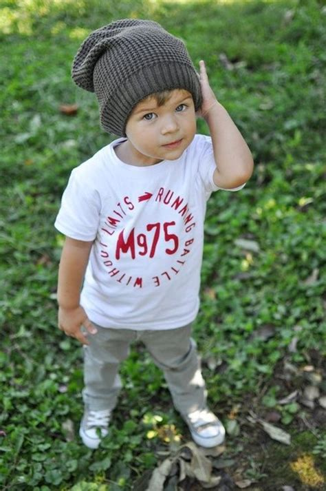 Kid Cuteboy boy in a beanie my are gonna wear these of clothes the cutest