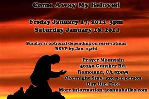 Come Away My Beloved And Pray quot come away my beloved quot prayer mountain weekend services