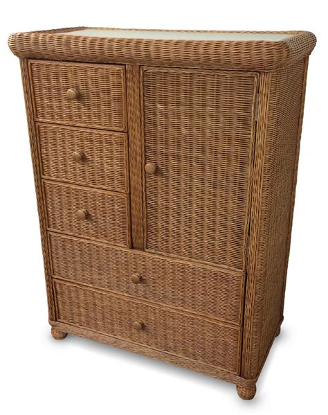 Wicker Drawer Chest by 5 Drawer 1 Door Wicker Chest Wicker Paradise