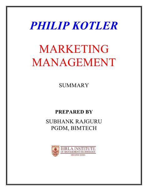 Marketing Management Mba Mcq by Philip Kotler Principles Of Marketing Mcqs