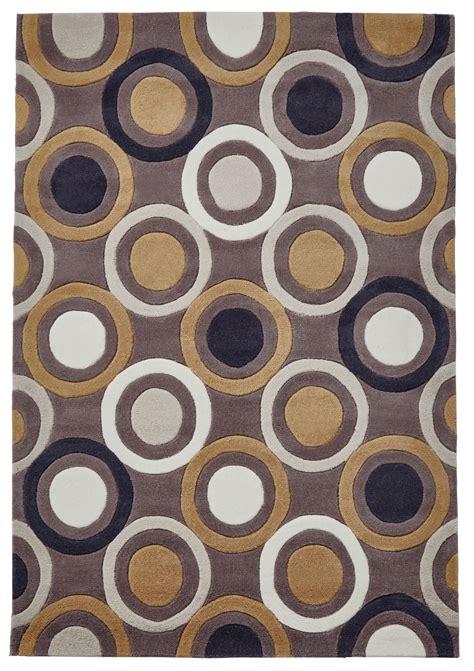 circle pattern rug brown yellow circle rug 100 acrylic large tufted geometric hong kong mat