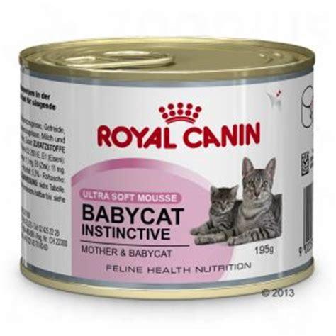 alimentazione gattini 2 mesi royal canin babycat instinctive mousse 6x195 gr cibo