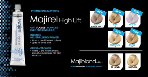 majirel majirouge high lift hair colours loreal tint dye all colours stocked ebay l or 233 al professionnel majirel high lift 5 new shades premiering may 2015 color charts