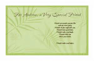 special friend birthday verses for cards for a special friend greeting card everyday friend