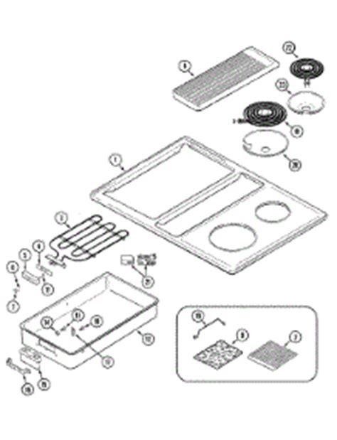 Jenn Air Cooktop Replacement Parts parts for jenn air c206b cooktop appliancepartspros