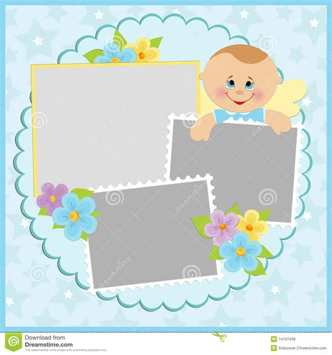 template for baby s photo album royalty free stock photos