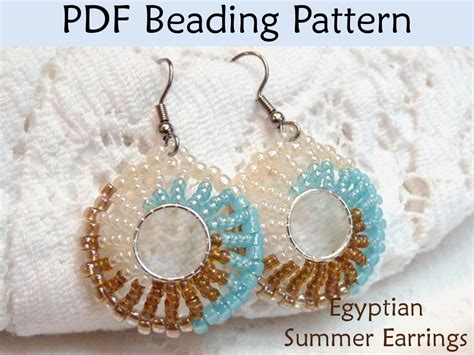 summer earrings pdf beading pattern by