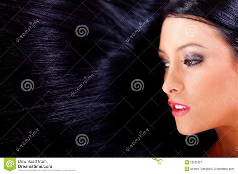mujer con el pelo negro largo sano lujuriante foto de pelo negro sano fotograf 237 a de archivo libre de regal 237 as