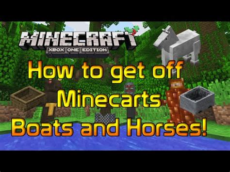 minecraft boat how to get out minecraft console xbox one 360 ps4 ps3 how to get off