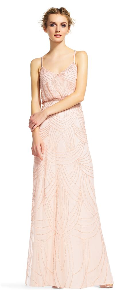 beaded blouson gown beaded blouson gown papell