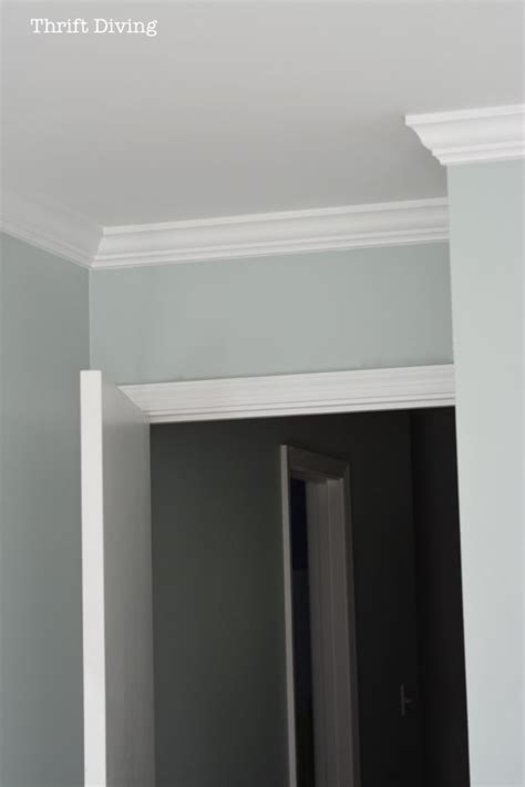 how to put up crown molding like a novice moldings how to put up crown molding like a novice thrift diving blog