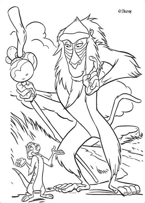 lion king rafiki coloring pages timon and rafiki coloring pages hellokids com