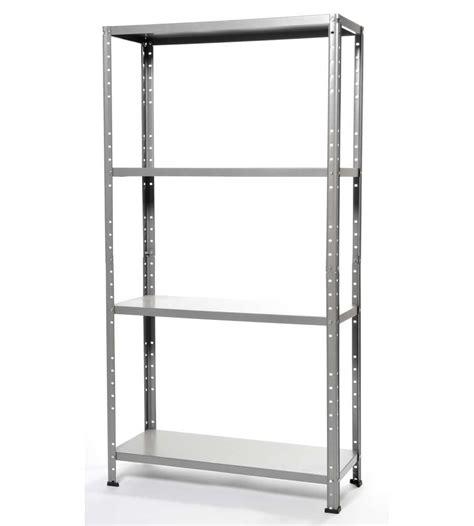 montaggio scaffali metallici scaffalatura in kit con 4 ripiani 75x30x136h cm