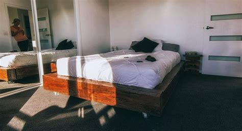 Sunken Bed Frame Railway Sleeper Bed Frame Furniture Design Flats Wheels And Beds