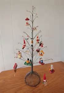 vintage metal christmas tree wire display stand trees