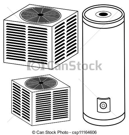 air filter clip art air free engine image for user an image of a water heater and air conditioner vector