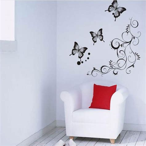 butterfly feifei new black wisteria flower vine home decor pvc wall sticker ebay