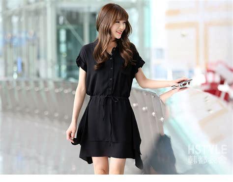 Shjt217080861342 Kemeja Hitam Baju Import baju dress kemeja wanita terbaru model terbaru jual murah import kerja