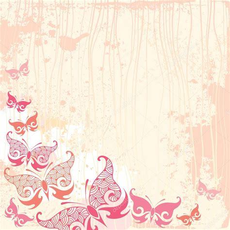 imagenes vintage en rosa fondo vintage con mariposa en rosa vector de stock