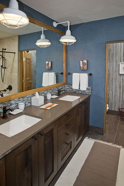 Gooseneck Bathroom Lighting Professional S Corner Bathroom Lighting Adds Bold Touch To Vail Remodel