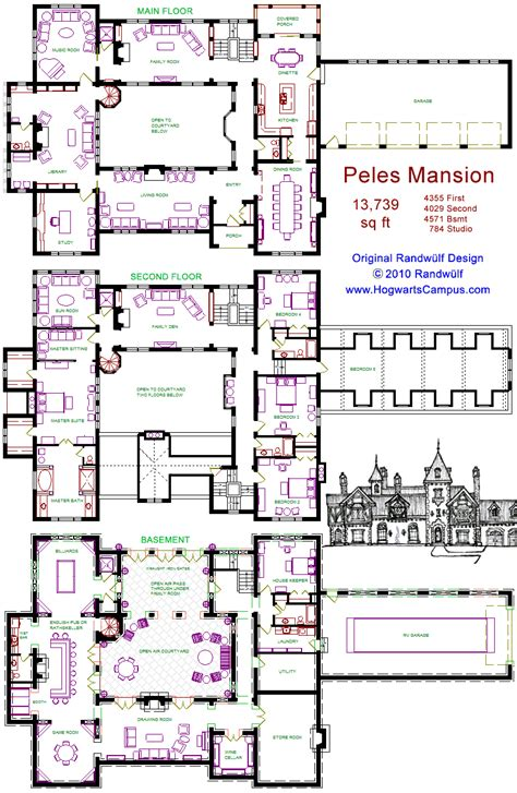 mansion floor plans castle peles mansion floor plan