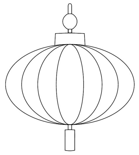 template for lantern lantern printable outline in black crayon and