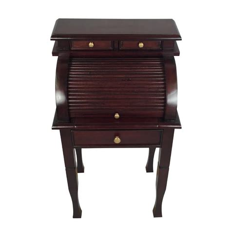 Solid Mahogany Desk by Solid Mahogany Wood Roll Top Office Desk Home Small