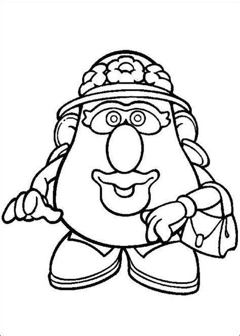 coloring page mr potato head kids n fun school pinterest