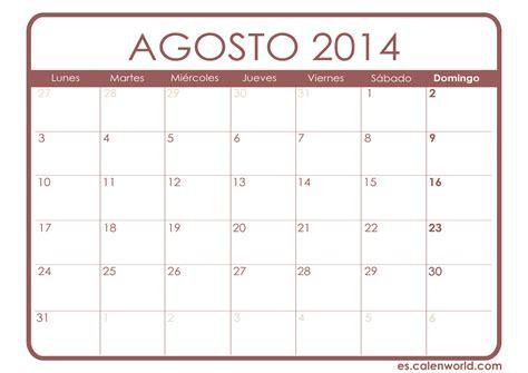 Calendario Agosto Calendario Mensual Calendarios