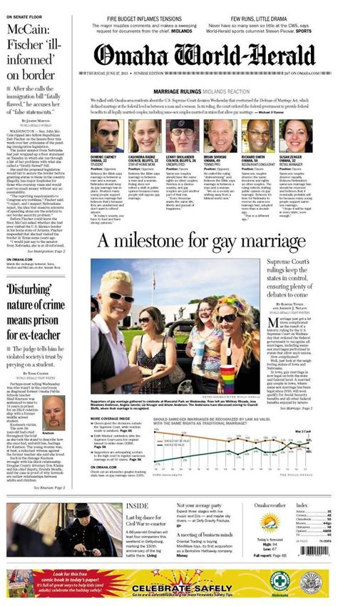 omaha world herald go section 17 best images about front pages layouts designs and