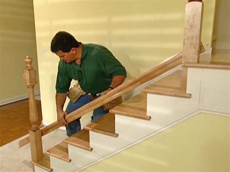 banister installation how to install new stair treads and railings how tos diy